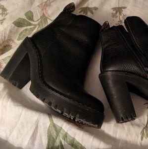 Dr. Martens badass heeled platform boots